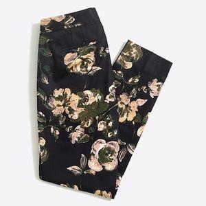 J. Crew Slim Crop Floral Pant